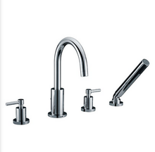 Buy Roman Double Lever Handle Tub Faucet with Handshower - Zen Tap Sinks - 1