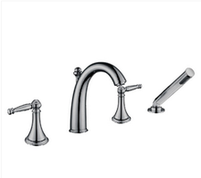 "Buy Roman Deck Mounted 2-Handle 4-1/2"" Tub Faucet w/ Handshower - Zen Tap Sinks - 1"