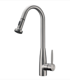 Buy Cadell Brass One Lever Handle Kitchen Faucet with Pull Out Spray - Zen Tap Sinks
