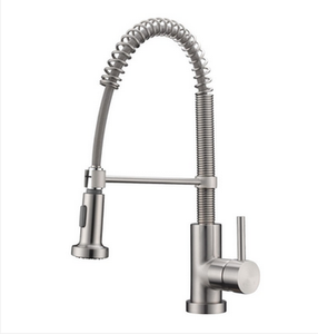 "Buy Cadell Pull-Down Single Handle Kitchen Faucet with 5-1/2"" H Spout - Zen Tap Sinks - 1"