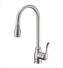 Buy Single Lever Handle Kitchen Faucet with Pull-Down Spray - Zen Tap Sinks - 1