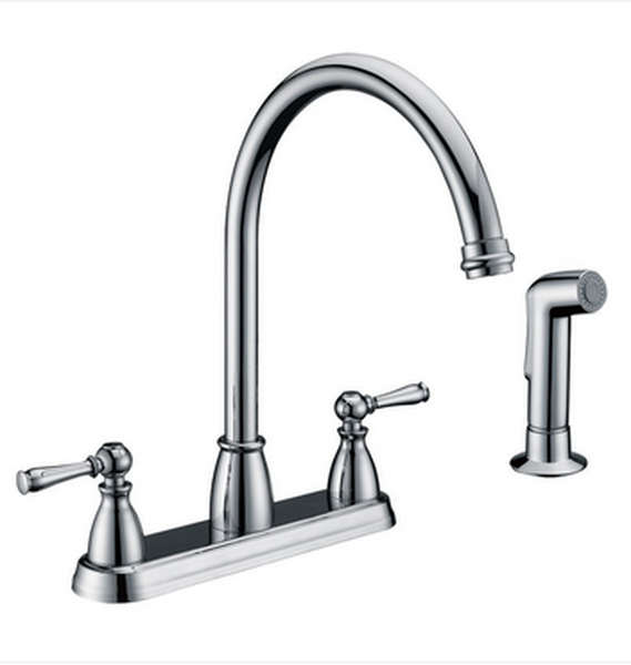 Buy Two Handle Centerset Kitchen Faucet with Side Spray - Zen Tap Sinks - 1