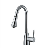 "Buy Single Handle 8-1/5"" H Spout Kitchen Faucet with Pull Down - Zen Tap Sinks - 1"