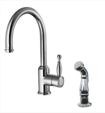 Buy Single Lever Handle Kitchen Faucet with Side Spray - Zen Tap Sinks - 1