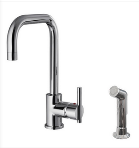 Buy Deck Mounted Single Handle Kitchen Faucet with Side Spray - Zen Tap Sinks - 1