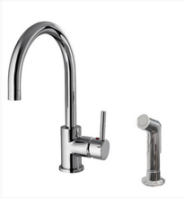 Buy Goose Neck Single Handle Kitchen Faucet with Side Spray - Zen Tap Sinks - 1
