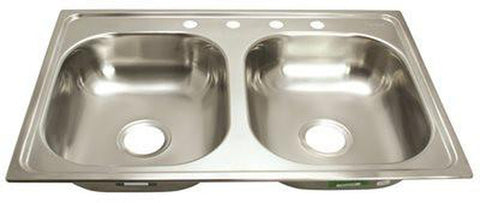 PROPLUS® 4-HOLE DOUBLE BOWL KITCHEN SINK
