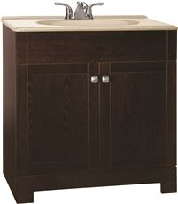 RSI HOME PRODUCTS SEDONA COMBO BATHROOM VANITY CABINET WITH BEIGE SST TOP