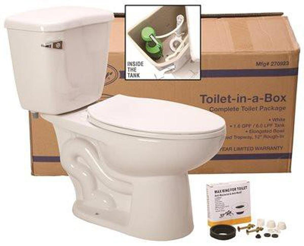 PREMIER® WATERFRONT WATERSENSE® HIGH-EFFICIENCY ELONGATED TOILET IN A BOX, ADA-COMPLIANT, WHITE, 1.28 GPF
