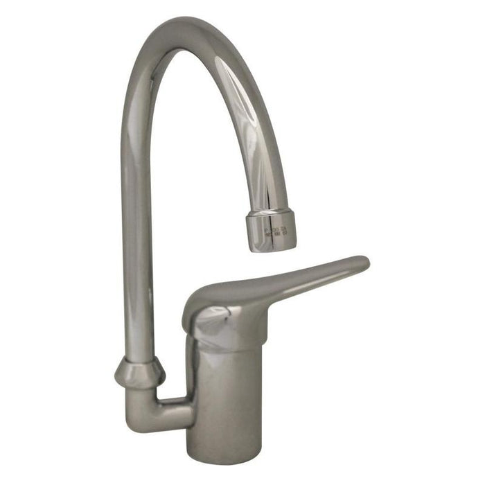 BUY Whitehaus 3-2851 Modern Goose Neck Single Hole Prep Swivel Kitchen Faucet - Zen Tap Sinks - 1