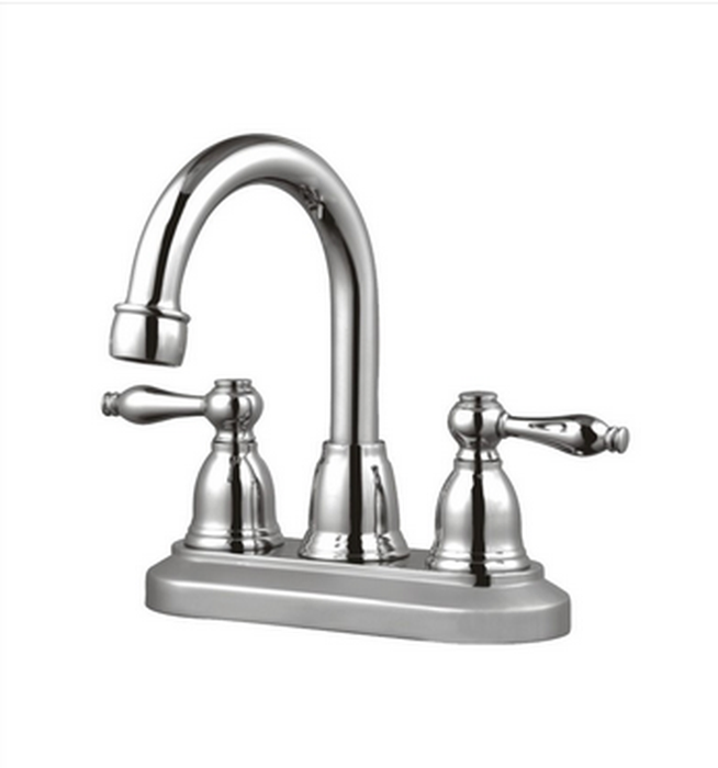 Buy Double Lever Handle Centerset Deck Mounted Bathroom Faucet - Zen Tap Sinks - 1