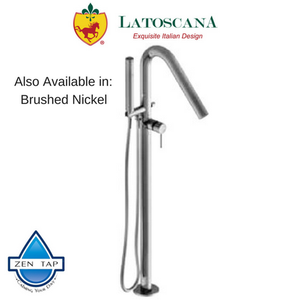 LaToscana Morellino Free Standing Tub Filler with Hand Shower and Built In Thermostatic Valve