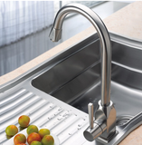 Buy Single Handle Kitchen Faucet in Brushed Stainless Steel - Zen Tap Sinks - 3