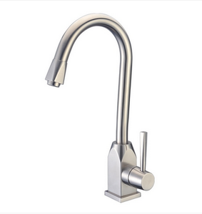 Buy Single Handle Kitchen Faucet in Brushed Stainless Steel - Zen Tap Sinks - 1