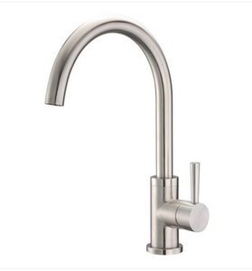 Buy Cadell Brushed Stainless Steel Kitchen Faucet with Goose Neck Spout - Zen Tap Sinks