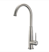 Buy Cadell Brushed Stainless Steel Single Lever Handle Kitchen Faucet - Zen Tap Sinks - 1