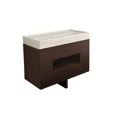 LaToscana 7064 Ceramic Top Vanity w/ 2 Drawers & Doors