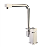 Buy Deck Mounted Brushed Stainless Steel 1 Handle Kitchen Faucet - Zen Tap Sinks - 1