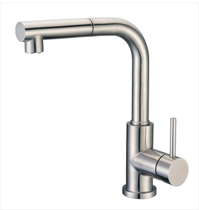 Buy Kitchen Faucet with Pull-Out Spray in Brushed Stainless Steel - Zen Tap Sinks - 1