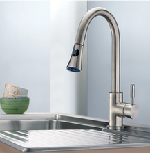 Buy Cadell Brushed Stainless Steel Kitchen Faucet with Pull-Down Spray - Zen Tap Sinks - 3
