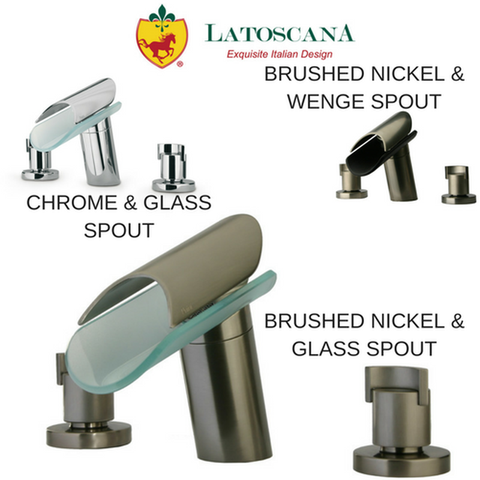Latoscana Morgana Widespread Lavatory Faucet with Glass Spout