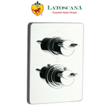 Latoscana Morgana Thermostatic Valve with 2 Way Diverter Volume Control