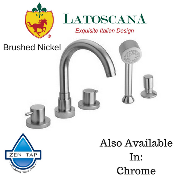 LaToscana Elba Roman Tub with Lever Handles and Diverter with Hand Held Shower