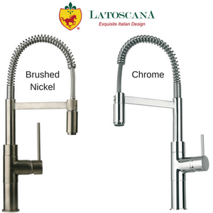 Latoscana Elba Shandle Kitchen Faucet with Spring Sprout