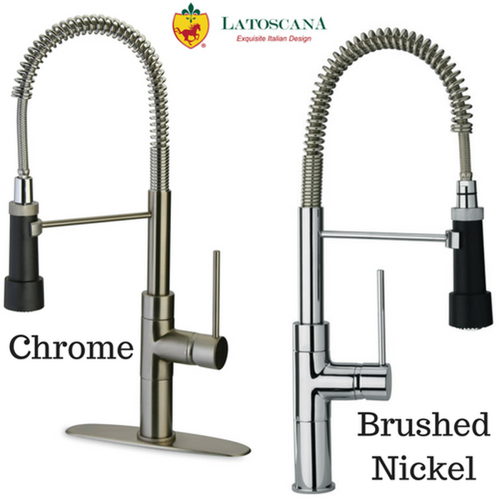 Latoscana Elba Single Handle Kitchen Faucet with Spring Spout