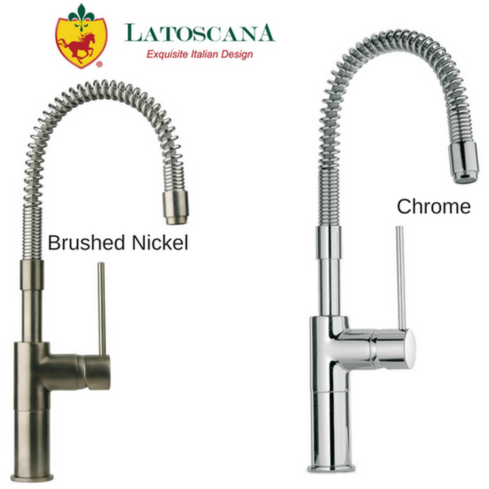 Latoscana Elba Single Handle Kitchen Faucet with Spring Spout, Stream Only