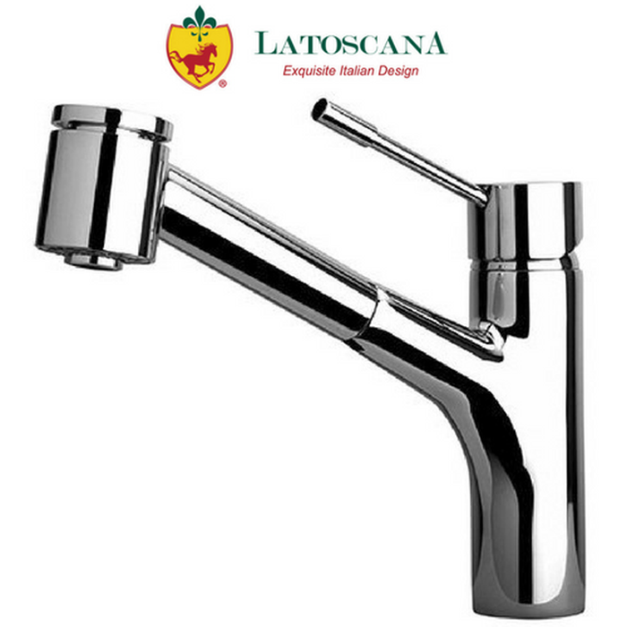 Latoscana Elba Single Handle Pull-Out Kitchen Faucet with 2 Function Sprayer (Stream/Spray)