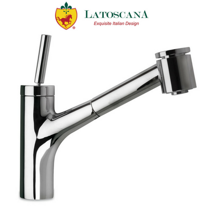 Latoscana Elba Single Handle Joystick Pull-Out Kitchen Faucet with 2 Function Sprayer (Stream/Spray)