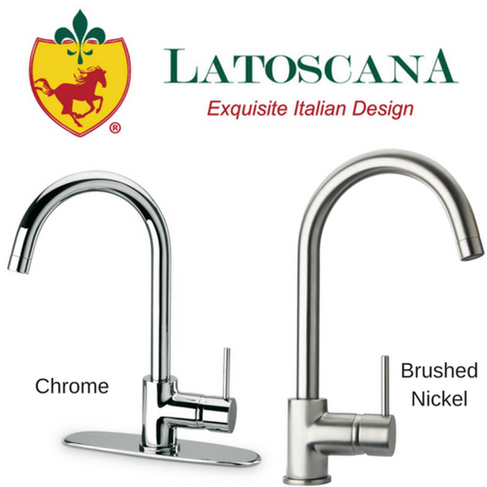 Latoscana Elba Single Handle Pull-Down Kitchen Faucet, Stream Only