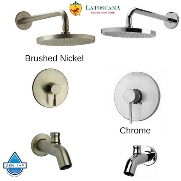 LaToscana Elba Pressure Balance Valve Tub and Shower Set
