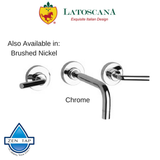 LaToscana Morellino Wall Mounted Lavatory Faucet with Lever Handles