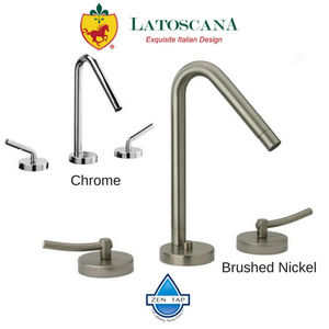 LaToscana Morellino Widespread Faucet with Lever Handles and a Rotating Spout