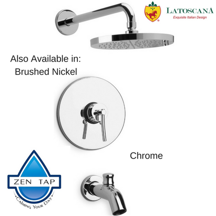 LaToscana Morellino Pressure Balance Valve Tub and Shower Set