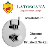 LaToscana Elix Thermostatic Valve with 2 Way Diverter Volume Control