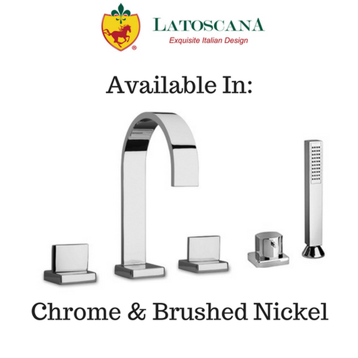 Latoscana Novello Roman Tub with Lever Handles and Diverter with Hand Held Shower