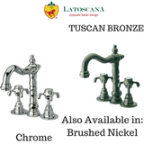 LaToscana Ornellaia Mini-Widespread Faucet with Cross Handles