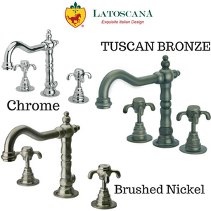 LaToscana Ornellaia Widespread Faucet with Cross Handles
