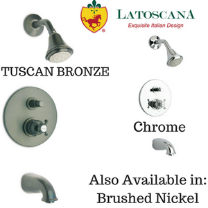LaToscana Ornellaia Pressure Balance Valve Tub and Shower Set