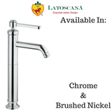 LaToscana Firenze Tall Single Lever Handle Lavatory Faucet with Lever Handle