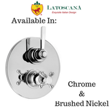 "LaToscana Firenze Thermostatic Valve with 3/4"" Ceramic Disc Volume Control"