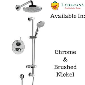 LaToscana Firenze Thermostatic Valve with 2 Way Diverter Volume Control Tub and Shower Set