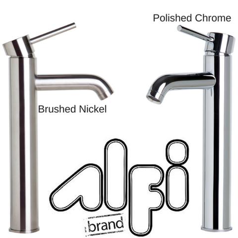 Alfi Brand AB1023 Single Lever Tall Round Bathroom Faucet Polished/Brushed