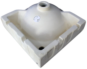 "ALFI brand AB104 White 15"" Round Corner Wall Mounted Porcelain Bathroom Sink"