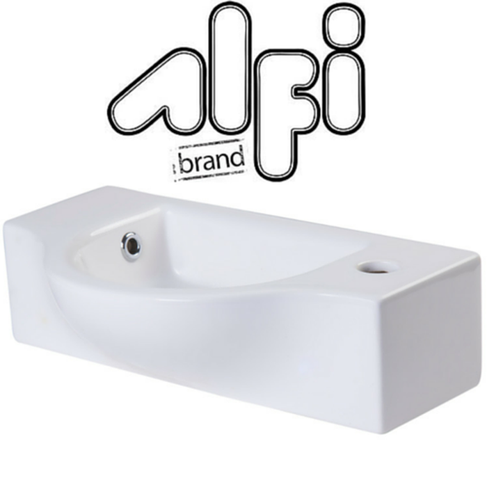 Alfi Brand AB105 Small Porcelain Wall Mount Basin