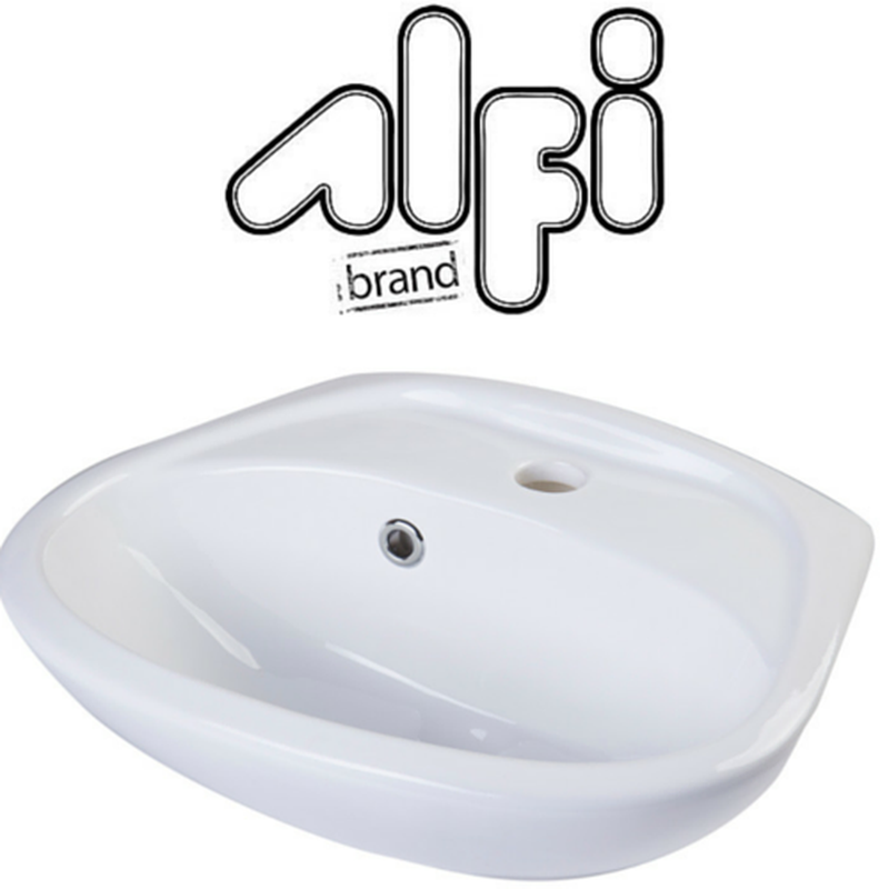 Alfi Brand AB106 Small Porcelain Wall Mount Basin with Overflow