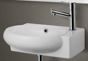 Buy Online Alfi Brand AB107 Small Porcelain Wall Mount Basin - Zen Tap Sinks - 1